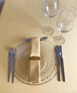 Alnada festive damask tablecloths Cream yellow