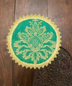 Okrugla stilska šustikla zelena manja
