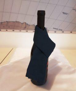 Pamučna hangla za vinsku flašu teget