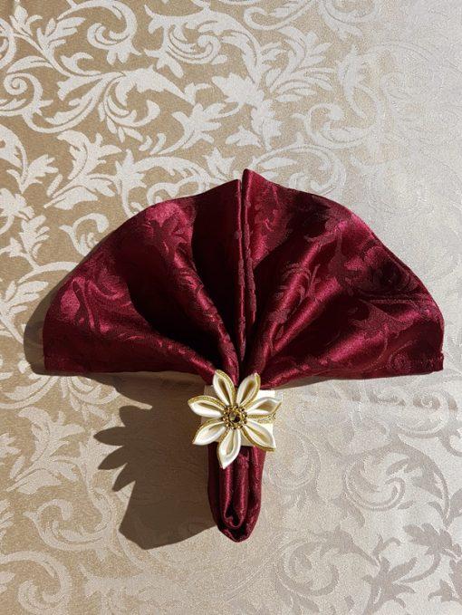 Slavski prsten sa salvetom bordo crveni