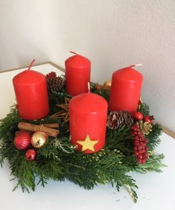 Advent wreath Christmas star