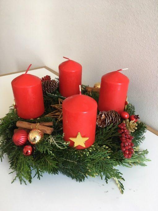 Advent venac Božićna zvezda profil