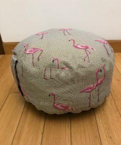 Okrugli joga jastuk tabure flamingo