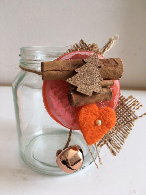 Tegla svećnjak Narandža i zvonce 1