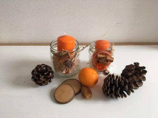 Tegle svećnjaci Narandža i breza
