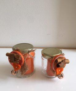 Tegle svećnjaci Narandža i zvonce sa poklopcem