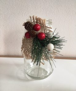Decorative candlestick jar Pine cone