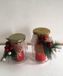 Tegle svećnjak Bor i šišarke sa poklopcem