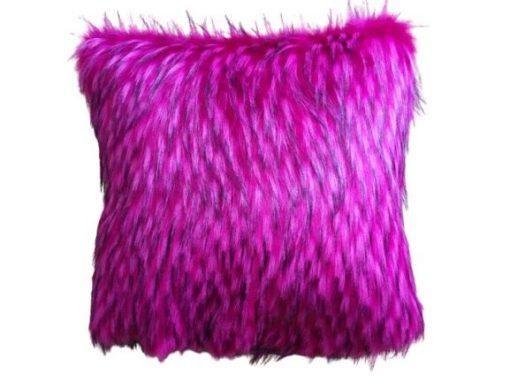 Alnada dekorativni jastuci fuksija eko krzno