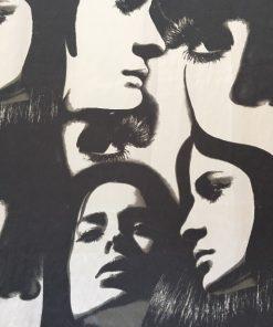 Moderna zavesa za mlade Girls detalj