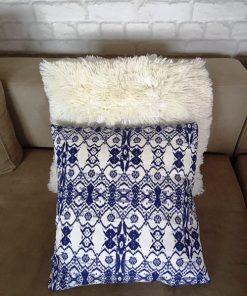 Deko jastucic Maroko plavi print