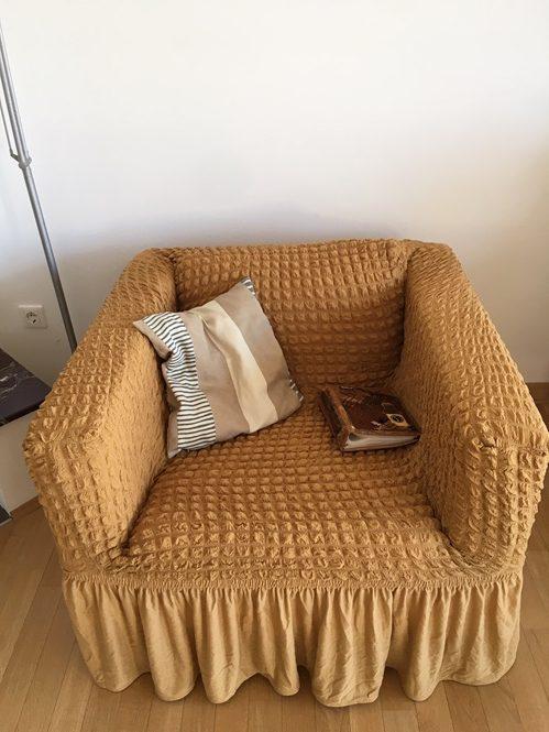 Rastegljiva presvlaka za fotelje Oker žuta