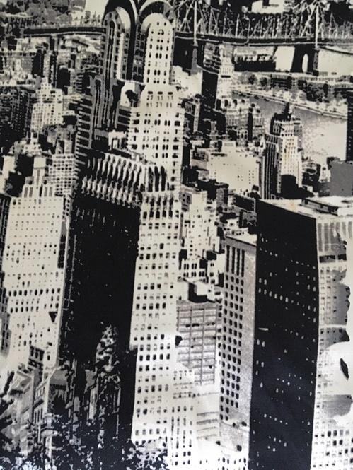 Moderna zavesa Njujork detalj