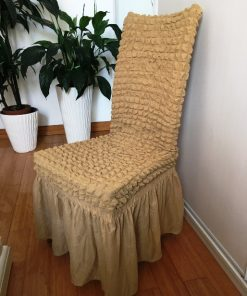 Pull-out chair covers dark beige