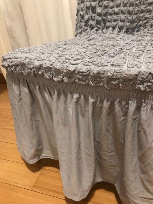 Navlake za stolice rastegljive Sive