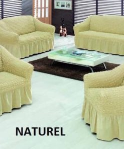 Universal covers for living room furniture Natural light beige