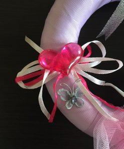Venčić dobrodošlice za bebu Balerina detalj srce