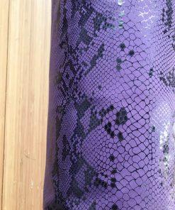 Joga torba Ljubičasta zmijska koža detalj