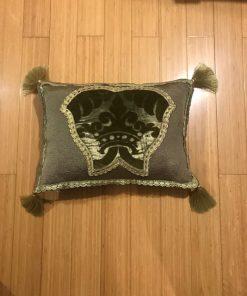 Stilski dekorativni jastuk od tafte sa brokat plišem