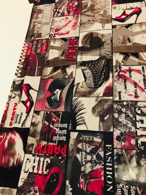 moderna pamučna zavesa Urban style detalj