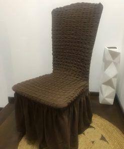 AA Rastegljive pamučne navlake za stolice braon nijanse