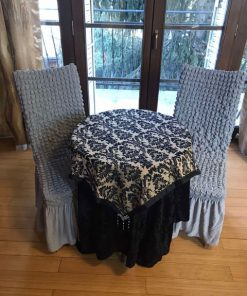 Streč univerzalne navlake za stolice sive