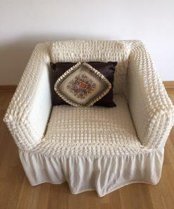 Rastegljive navlake za fotelje Bež natur