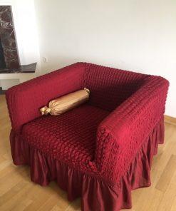 Elastične univerzalne navlake za fotelje bordo