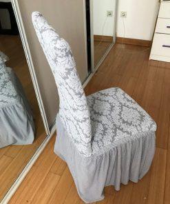 Rastegljive navlake za stolice Žakard krune