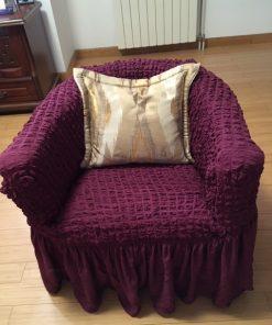 Presvlake za fotelje rastegljive tamno ljubičaste