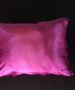 Ručno pleteni jastuci od bukle vune Ciklama