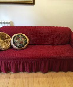 Elastična navlaka za kauč trosed Bordo boja