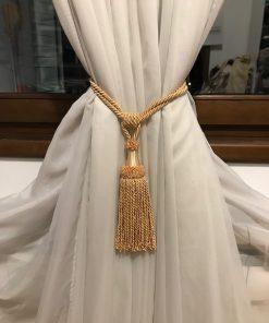 Držač za drapere zlatni gajtan sa kićankama
