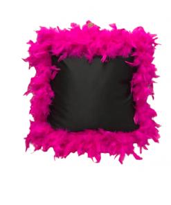 Unikatni satenski jastuk sa dodatkom perja