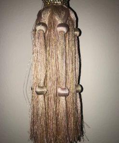 Držači za zavese i draperije Svilena kićanka zlatno roze