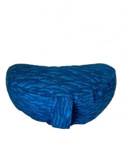 Joga jastuk za meditaciju polumesec pamučni plavi talasi